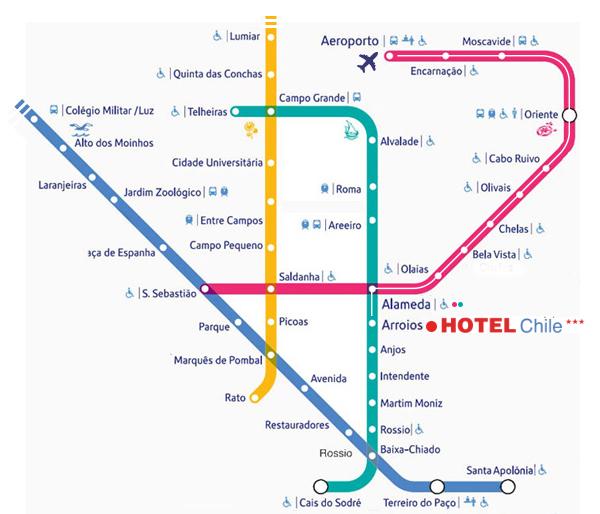 praça do chile lisboa mapa Hotel Do Chile praça do chile lisboa mapa